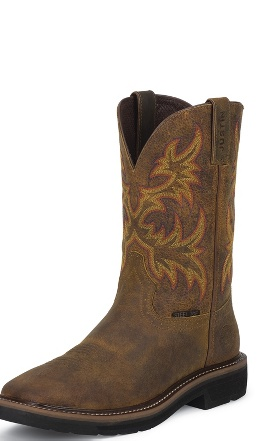 Justin Stampede Square Toe Boot Outlet