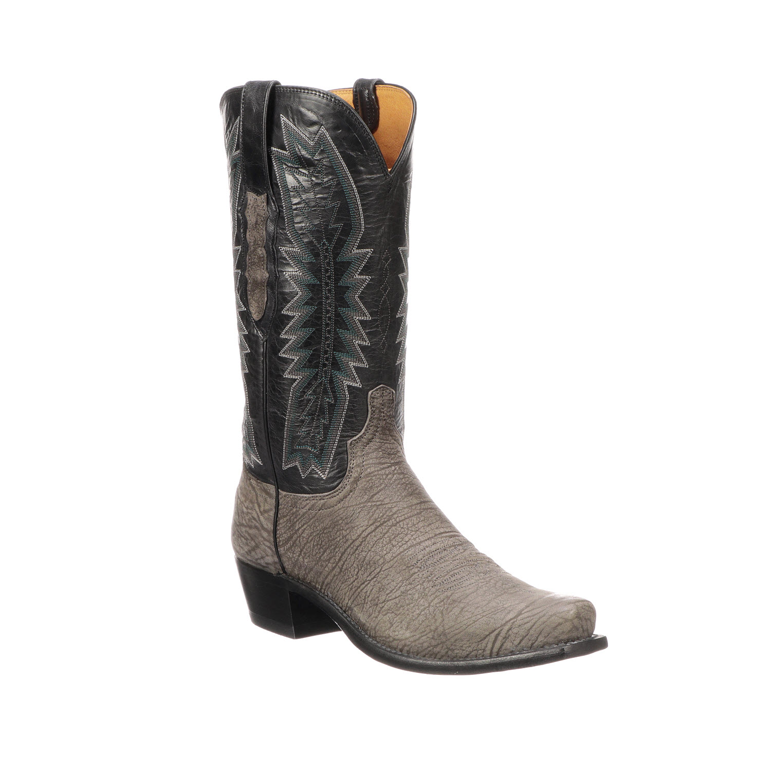 Lucchese Harrison Charcoal Sheep Boot Outlet